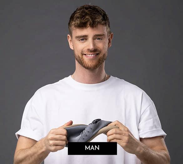 GROUNDIES barfota skor för män